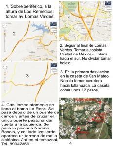 mapa temazcal la rosa